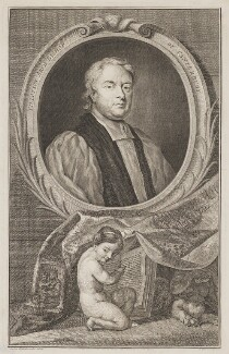 John Tillotson, by Jacobus Houbraken, after  Sir Godfrey Kneller, Bt - NPG D39615