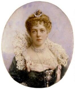 Fanny Octavia Louisa (née Spencer-Churchill), Lady Tweedmouth, by Lafayette (Lafayette Ltd), 1890s - NPG x134374 - © National Portrait Gallery, London