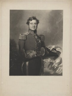 FitzRoy James Henry Somerset, 1st Baron Raglan, by William Oakley Burgess, published by  Joseph Sandell Welch, after  Andrew Morton - NPG D39175