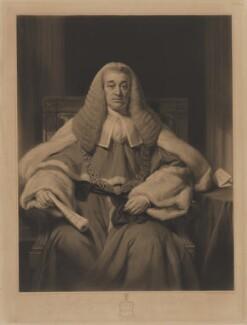 Sir Nicholas Conyngham Tindal, by Henry Cousins, after  Thomas Phillips - NPG D39623