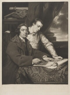 James Paine the Elder; James Paine the Younger, by James Watson, published by  Ryland and Bryer, after  Sir Joshua Reynolds, (1764) - NPG D39505 - © National Portrait Gallery, London
