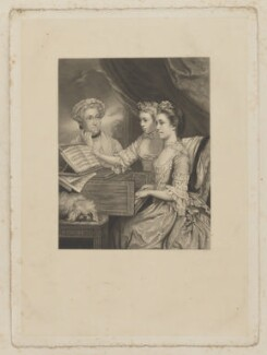 Charlotte Paine (née Beaumont); Mary Kettle (née Paine); Charlotte Charlton (née Paine), by Richard Josey, after  Sir Joshua Reynolds - NPG D39508