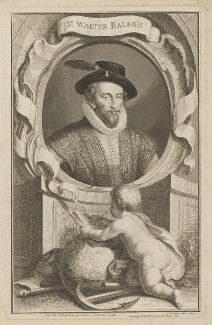 Sir Walter Ralegh (Raleigh), by Jacobus Houbraken, published by  John & Paul Knapton - NPG D39187