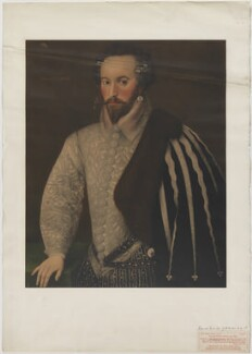 Sir Walter Ralegh (Raleigh), published by The Medici Society Ltd, after a painting attributed to  'H' - NPG D39190