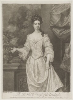 Margaret Jones (née Cecil), Countess of Ranelagh, by John Faber Jr, printed for and sold by  Robert Sayer, printed for and sold by  John King, after  Sir Godfrey Kneller, Bt - NPG D39201