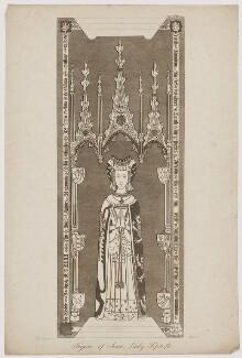 Joice (Joyce, Jocosa), Lady Tiptoft, probably by James Basire, after  Jacob Schnebbelie, late 18th to early 19th century - NPG D39626 - © National Portrait Gallery, London