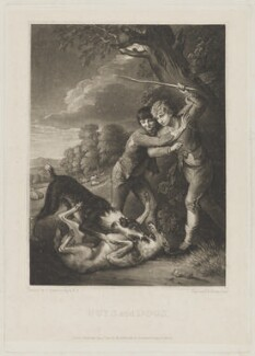 'Boys and Dogs', by Henry Edward Dawe, published by  William Johnstone White, after  Thomas Gainsborough - NPG D39640