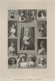 'Some Leading Actresses: A Group', by W. & D. Downey, published by  Cassell & Company, Ltd - NPG x134387