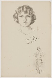 Blanche Tomlin, after Howard van Dusen, and after  John Hassall - NPG D39641
