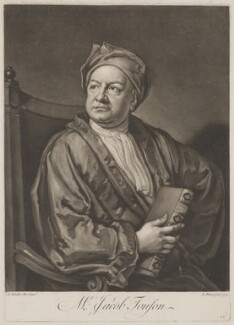 Jacob Tonson I, by John Faber Jr, after  Sir Godfrey Kneller, Bt - NPG D39646