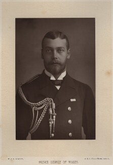 King George V when Prince George of Wales, by W. & D. Downey, published by  Cassell & Company, Ltd - NPG x13204