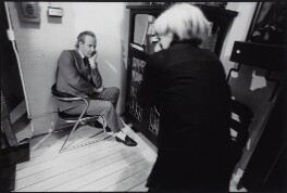 Andy Warhol photographing John Kobal, by Unknown photographer - NPG x134411