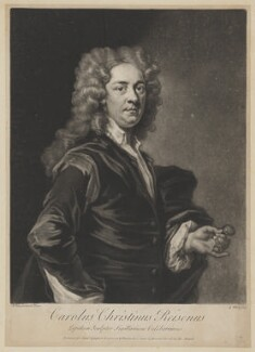 Charles Christian Reisen, by George White, printed for  Samuel Sympson, after  John Vanderbank - NPG D39677