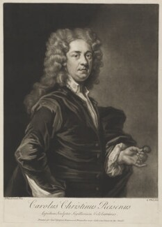 Charles Christian Reisen, by George White, printed for  Samuel Sympson, after  John Vanderbank - NPG D39678