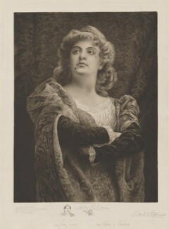 Ada Rehan as Rosalind with vignette of Augustin Daly, printed by George Wistar Hodge Ritchie - NPG D39679