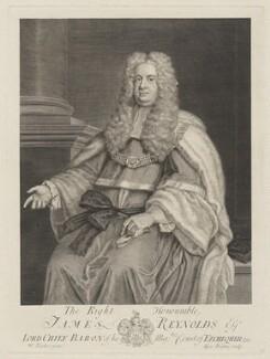 Sir James Reynolds, by George Vertue, after  William Parker - NPG D39694