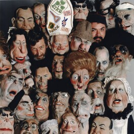 'Luck and Flaw' (Peter Nigel Fluck; Roger Law with Spitting Image puppets), by Gil Galvin - NPG x134391