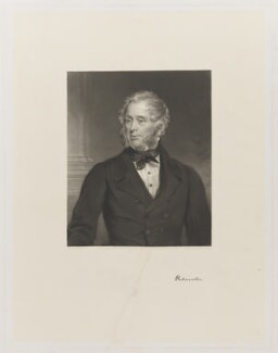 Henry John Temple, 3rd Viscount Palmerston, by Francis Holl, by  George Zobel, published by  Henry Graves & Co, after  Sir Francis Grant - NPG D39516
