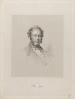 Henry John Temple, 3rd Viscount Palmerston, by Francis Holl, published by  Paul and Dominic Colnaghi & Co, after  George Richmond - NPG D39517