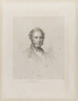 Henry John Temple, 3rd Viscount Palmerston, by Francis Holl, published by  Paul and Dominic Colnaghi & Co, after  George Richmond - NPG D39518