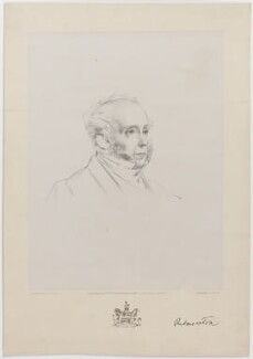 Henry John Temple, 3rd Viscount Palmerston, by John Alfred Vinter, published by  Day & Son Ltd, after  George Housman Thomas - NPG D39520