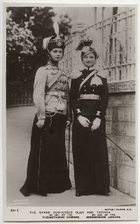 Olga, Grand Duchess of Russia; Tatiana, Grand Duchess of Russia, by Exclusive News Agency, published by  Rotary Photographic Co Ltd, before 1914 - NPG x131656 - © National Portrait Gallery, London