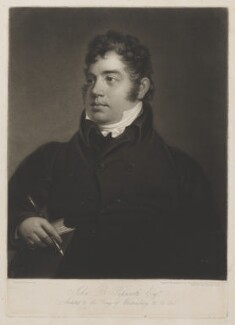 John Buonarotti Papworth, by William Say, after  James Green - NPG D39528