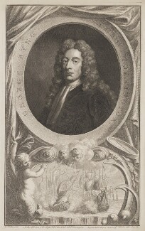 George Byng, 1st Viscount Torrington, by Jacobus Houbraken, published by  John & Paul Knapton, after  Sir Godfrey Kneller, Bt - NPG D39650