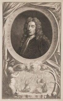 George Byng, 1st Viscount Torrington, by Jacobus Houbraken, published by  John & Paul Knapton, after  Sir Godfrey Kneller, Bt - NPG D39650