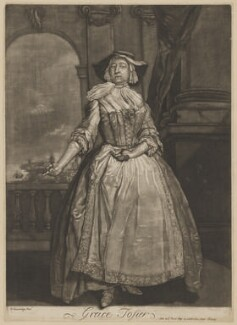 Grace Tosier, after Bartholomew Dandridge, (1728) - NPG D39652 - © National Portrait Gallery, London