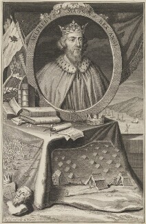 King Alfred ('The Great'), by George Vertue - NPG D38593