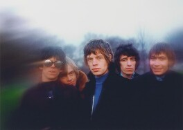 The Rolling Stones (Keith Richards, Brian Jones, Mick Jagger, Bill Wyman, Charlie Watts), by Gered Mankowitz - NPG P1372