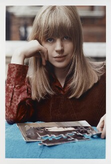 Marianne Faithfull, by Tony Frank, 1965 - NPG P1376 - © tonyfrank / National Portrait Gallery, London