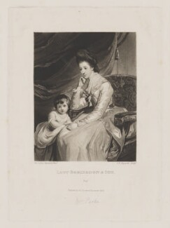 John Parker, 1st Earl of Morley; Theresa Parker, by and published by Samuel William Reynolds, after  Sir Joshua Reynolds - NPG D39541