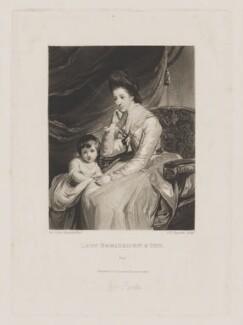 John Parker, 1st Earl of Morley; Theresa Parker, by and published by Samuel William Reynolds, after  Sir Joshua Reynolds, published 1824 (1772-1775) - NPG D39541 - © National Portrait Gallery, London