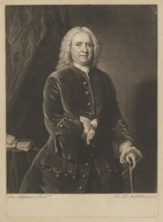Samuel Richardson or possibly Zachary Hamlyn, by James Macardell, after  Joseph Highmore - NPG D39726