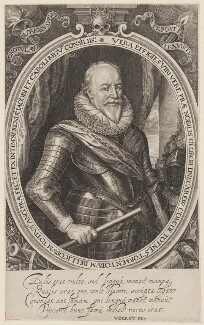 George Carew, Earl of Totnes, by Robert van Voerst - NPG D39654