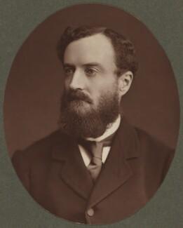 Michael Edward Hicks Beach, 1st Earl St Aldwyn, by Lock & Whitfield - NPG Ax8711