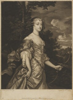 Frances Teresa Stuart, Duchess of Richmond and Lennox, by and published by Thomas Watson, published by  Walter Shropshire, after  Sir Peter Lely - NPG D39742