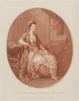 Mary Lennox (née Bruce), Duchess of Richmond and Lennox, by and published by William Wynne Ryland, after  Angelica Kauffmann - NPG D39748