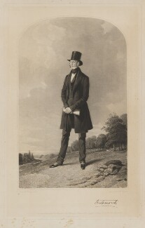 Charles Gordon-Lennox, 5th Duke of Richmond and Lennox, by Samuel William Reynolds Jr, printed by  Brooker & Harrison, published by  Thomas Agnew, published by  Rudolph Ackermann, published by  Anaglyphic Company, after  Richard Ansdell - NPG D39754