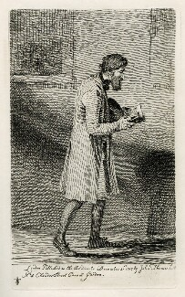 Unknown man reading, by and published by John Thomas Smith - NPG D40082