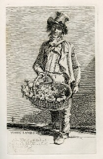 Unknown man selling toys ('Young Lambs'), by and published by John Thomas Smith - NPG D40083