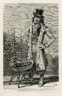 Unknown man selling toys ('Windmills'), by and published by John Thomas Smith - NPG D40086