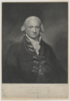 Sir Thomas Pasley, 1st Bt, by and published by John Thomas Smith, and by  Anne Maria Smith (née Prickett), and published by  Nathaniel Smith, printed by  Joseph Stewardson, after  Lemuel Francis Abbott - NPG D39561