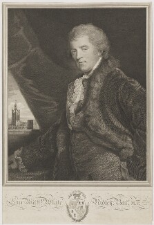 Sir Matthew White Ridley, 2nd Bt, by James Fittler, after  John Hoppner - NPG D39761