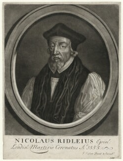 Nicholas Ridley, by and published by John Faber Sr - NPG D39763
