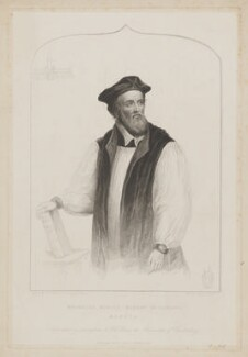 Nicholas Ridley, by Henry Bryan Hall, published by  C. Birch, after  James Warren Childe - NPG D39764