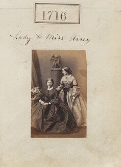Probably Katherine Margaret (née Airey), Lady Cotterell; Harriett Mary Everard (née Talbot), Lady Airey, by Camille Silvy, 1 December 1860 - NPG Ax51107 - © National Portrait Gallery, London