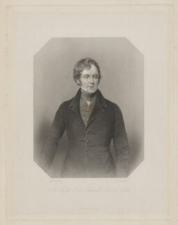 Frederick John Robinson, 1st Earl of Ripon, by William Camden Edwards, published by  George Virtue, after  James Holmes - NPG D39773